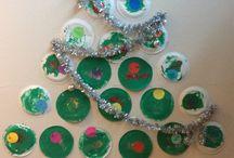 Kerst knutsel van kartonnen bord