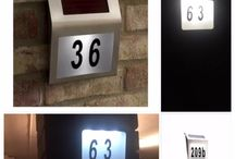 Solar light sign number house / Solar light sign number lights up at night making it easier to find your house.