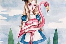 Alice in W:Art/Black Furya / Alice in wonderland (illustrator)