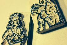 Figurinhas Carimbadas Vintage - Vintage Rubbercuts