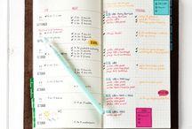 Bullet Journal and Midori Traveler's Notebook