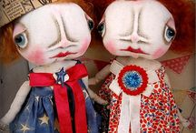 Folk art dolls