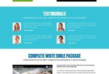 teeth whitening landing page design