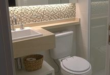 banheiro pequeno e clean