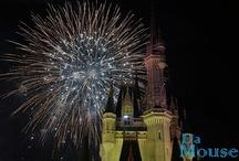 Disney Fireworks / Disney magic dances in the night sky.