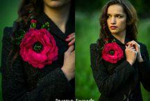 Silk flowers Valeria Kulikova models Шелковые цветы на моделях / Украшения из шелковых цветов