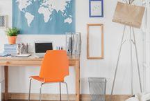 Home Office / Ideias, dicas e tendências para a decoração do Home Office. (blog.moldurapop.com)