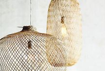 wicker lamps