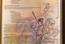 Revelation--Bible Journaling by Book / Bible Journaling examples from the book of Revelations