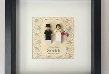 Minifigure Frame Art, Lego, Frames / Minifigure Frames For All Occasions Lego Weddings Birthdays Fathers Day frame