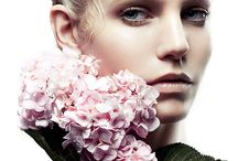 Models with flowers