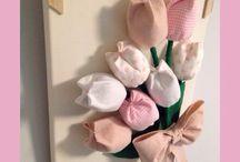 Tulipani di feltro e stoffa