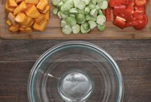 squash pepper brussel sprout salad
