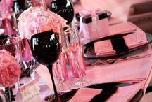 Pink/Black Wedding Ideas