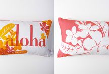 Kaypee Soh Pillow Collection / You're going to love this collection!  Hawaiian vibe of tropical and coastal pillows on 100% linen.