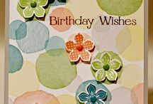 Happy watercolor stampinup
