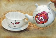 TEAPOTS HANDPAINTED by Luciana Torre