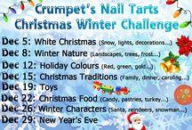 Crumpet's Nail Tarts Winter Christmas Challenge