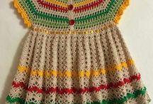 vestido de crochet criança
