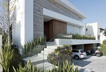 Modern houses and landscaping / Houses (exterior) and landscape