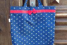 Dilians Blaudruck Shopping bags / Dilians Einkaufstaschen aus der Region für Lebensmittel aus der Region
