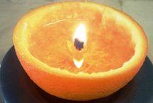 Sinaasappel kaars / Zelf maken