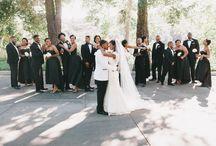 Clean bright white wedding