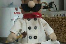 cozinheiro de feltro