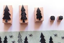 Christmas rubber stampd