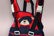 Navy Blue & Red Baby Carrier
