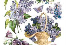 stickers vintage violet