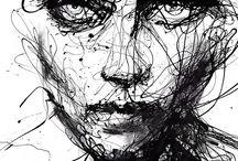 Scribble drawings