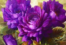 цветы живопись / картинкы