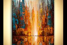 abstrakt akryl