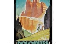 dolomites vintage posters