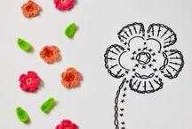 Вязанные цветы и аксессуары