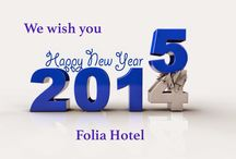 FOLIA HOTEL & RESTAURANT WISHES / We wish you Merry Christmas and Happy new year