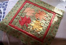 Quilt - single blocks - found or made myself