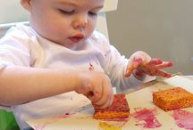 Infant toddler easy painting awesome!!