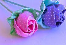 Ruže z látky