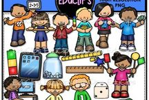 Educlips School Clip Art / Graphics of anything to do with school.