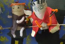 Harry Potter & Friends / Harry Potter's characters with toilet paper roll by 10 years-old children.