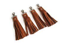 Leather Fringe Key Fobs