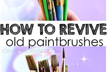 revived paint brushes