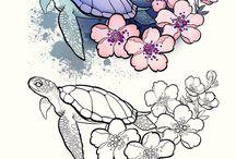 Teknős tattoo