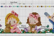 cross stitch girls