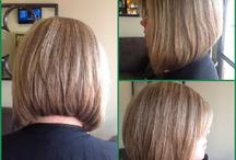 Stacked bob haircuts and beauty