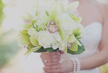 GREEN ~ TO HAVE & TO HOLD / Green wedding & event flowers. Green bouquets, green centerpieces, green flowers.