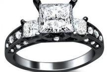 Black Gold - Sparkling White Diamonds!