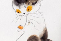 Cats ( Neko) / This is in honor of all our Feline friends who grace us with their companionship / by Ann Leadley